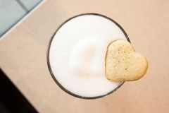 Coffee Latte and cookie. royalty free stock photo