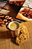 Coffee latte with cookies Royalty Free Stock Photos