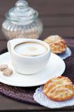 Coffee Latte Cup With Sugar Stock Photos