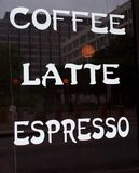 Coffee, Latte, and Espresso Sign Royalty Free Stock Image