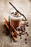 Coffee latte in glass Stock Images