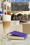Coffee Latte in a glass Royalty Free Stock Photo