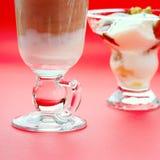 Coffee latte and ice scream Stock Image