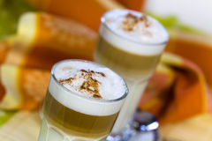 Coffee Latte Macchiato in a glass Royalty Free Stock Image