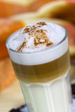 Coffee Latte Macchiato In A Glass Stock Photography