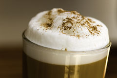 Coffee Latte Macchiato In A Glass Royalty Free Stock Photography
