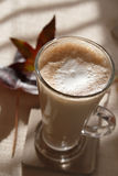 Coffee latte macchiato  in tall glass Royalty Free Stock Photos