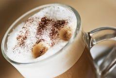 Coffee latte machiatto. Close up of coffee latte machiatto Stock Images