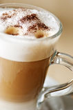 Coffee latte machiatto. Close up of coffee latte machiatto Stock Photo
