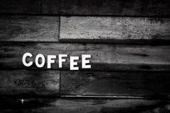 Coffee Latte Milk cream flower Wooden spoon coffee bean Background Wood Stock Photos