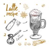 Coffee Latte Recipe Royalty Free Stock Photos