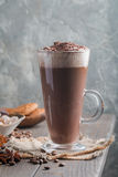 Coffee latte in a tall glass Stock Image