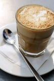 Coffee Latte top down view Stock Photos