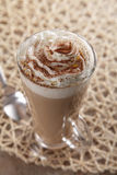 Coffee Latte whipped cream stock photography