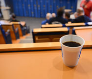 Coffee during lecture Stock Photography