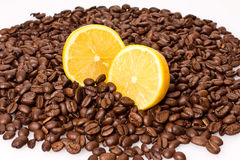Coffee and lemon Royalty Free Stock Photography
