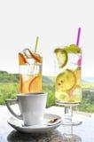 Coffee and lemonade royalty free stock image