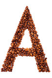 Coffee letter � Royalty Free Stock Images