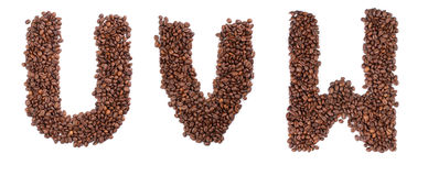 Coffee letter Royalty Free Stock Photography