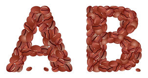 Coffee letter Stock Image