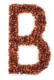 Coffee letter B Stock Image