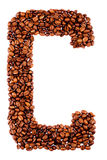 Coffee letter C Stock Photos