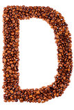 Coffee letter D Stock Photos