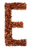 Coffee letter E Stock Images