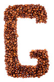 Coffee letter G Royalty Free Stock Photos