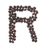 Coffee letter r Royalty Free Stock Photography