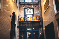 Coffee Letter Signage Royalty Free Stock Photography
