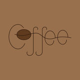 Coffee lettering Stock Photos