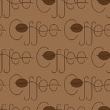 Coffee lettering pattern Royalty Free Stock Image