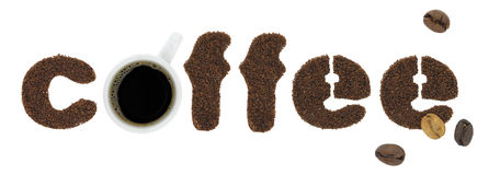 Coffee letters Royalty Free Stock Photography