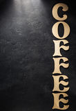 Coffee letters on black Royalty Free Stock Image