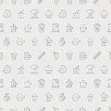 Coffee line icon pattern set Stock Photography