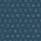 Coffee line icon pattern set Stock Image