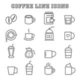 Coffee line icons Stock Photography
