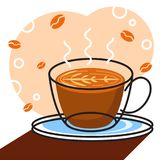 Coffee vector with white background graphic for illustration Stock Images