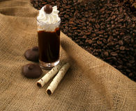 Coffee liquor after diner Royalty Free Stock Photo