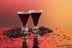 Coffee liquor or wine Stock Photography