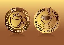 Coffee Logo. Drawing two aesthetic coffee logo Vector Illustration