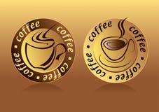 Coffee Logo. Drawing two aesthetic coffee logo Royalty Free Stock Photos