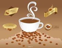Coffee_LOGO_Background 皇族释放例证