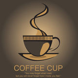 Coffee Logo. Best coffee logo for your coffee shop or menu card. You can use this coffee illustration in your brochure design or menu card. Available in EPS when Royalty Free Stock Photography