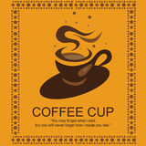 Coffee Logo. Best coffee logo for your coffee shop or menu card. You can use this coffee illustration in your brochure design or menu card. Available in EPS when Royalty Free Stock Images