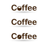 Coffee logo with cup Stock Photo