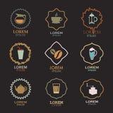 Coffee logo design icon vector Stock Image