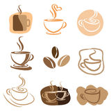 Coffee logo design set Royalty Free Stock Photo