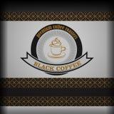 Coffee logo emblem retro design template Stock Photos
